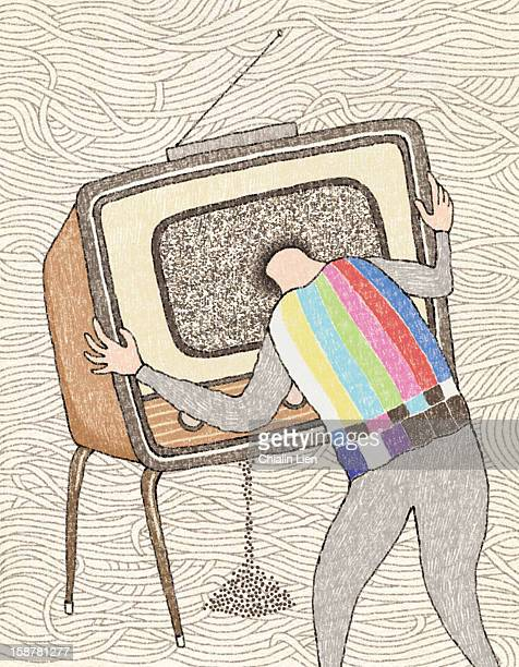no signal - television aerial stock illustrations, clip art, cartoons, & icons