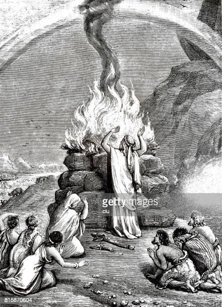 Noah sacrificing on the mountain, christian symbol