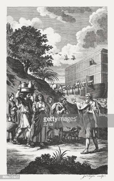 Noahs' Family going to enter the Ark, published in 1774