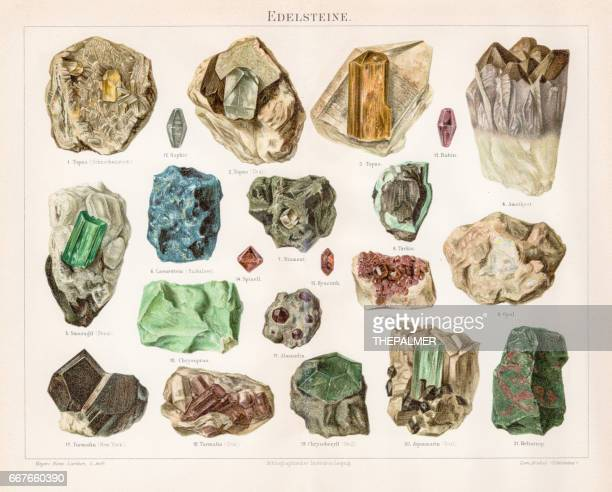 Noble stones chromolithograph 1895