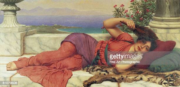 noonday rest - one young woman only stock illustrations