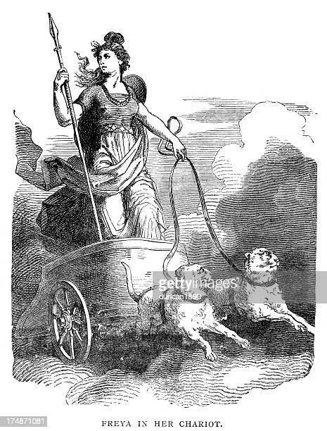 Norse mythology - Freya in Her Chariot