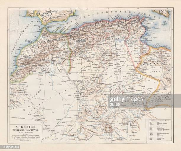 North Africa: Algeria, Morocco and Tunisia, lithograph, published in 1897