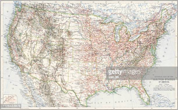 north america map - usa stock illustrations