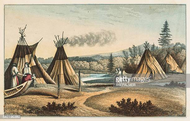 North American indians settlement 1853