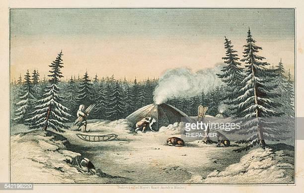 North American indians winter scene 1853