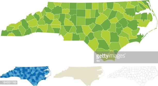 ノースカロライナ州郡マップ - ノースカロライナ州点のイラスト素材/クリップアート素材/マンガ素材/アイコン素材