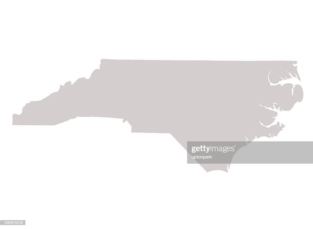 North Carolina State map : Stock Illustration