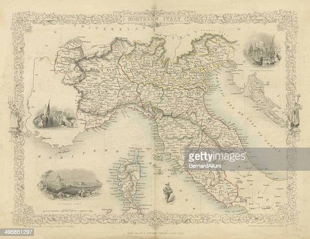 northern italy map - st. peter's basilica the vatican stock illustrations