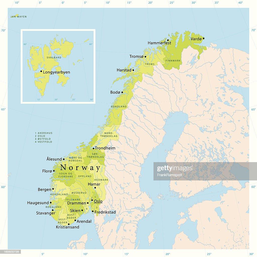 Norway Vector Map Vector Art Getty Images