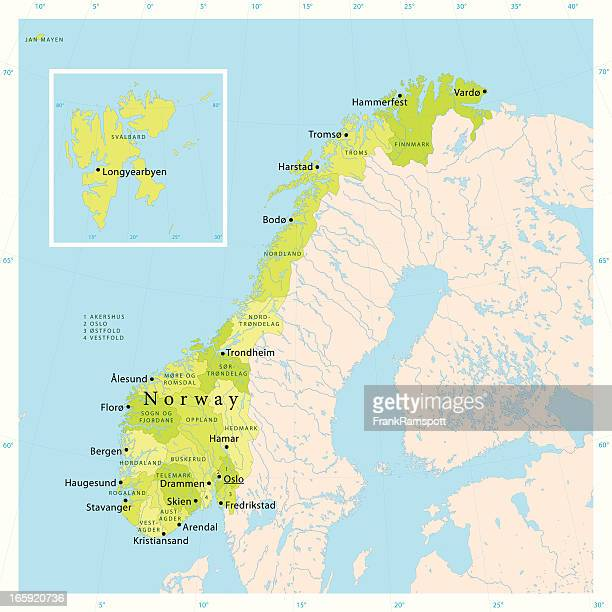 Norway Vector Map