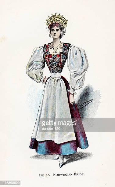Norwegian Bride Period Costume
