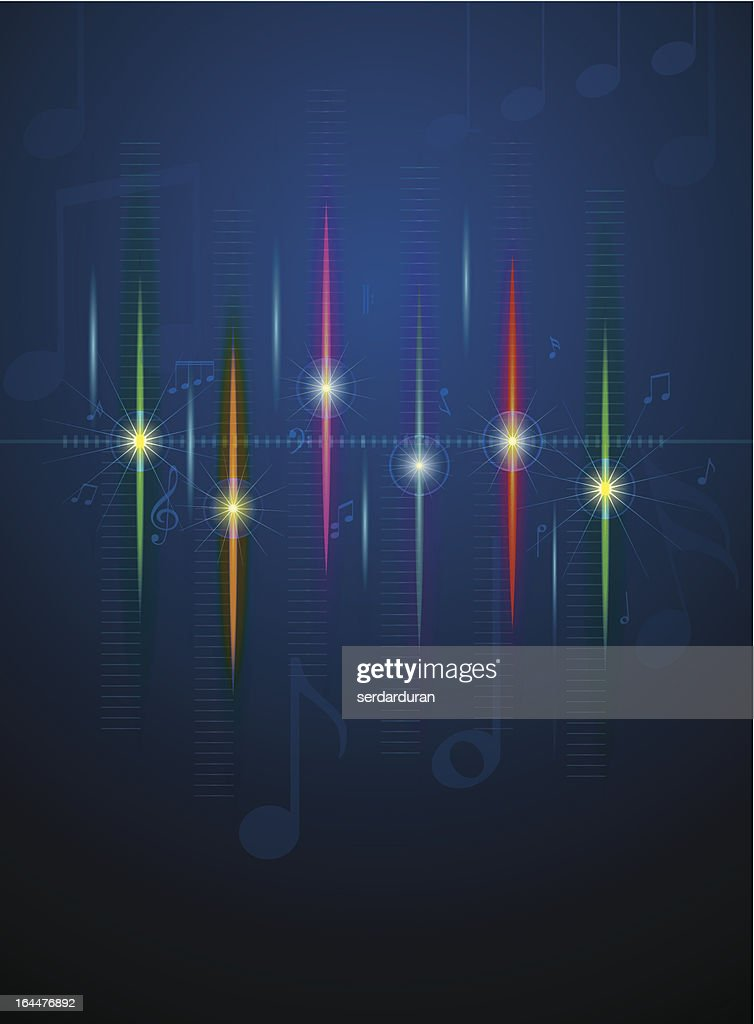 Notes and sound waves. Music background