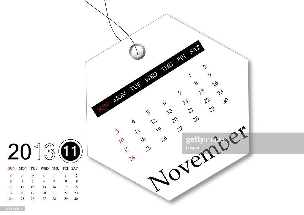 november of 2013 year calendar stock illustration getty images