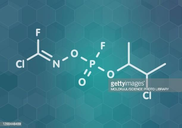 ilustraciones, imágenes clip art, dibujos animados e iconos de stock de novichok agent a-234 molecule, illustration - arma biológica