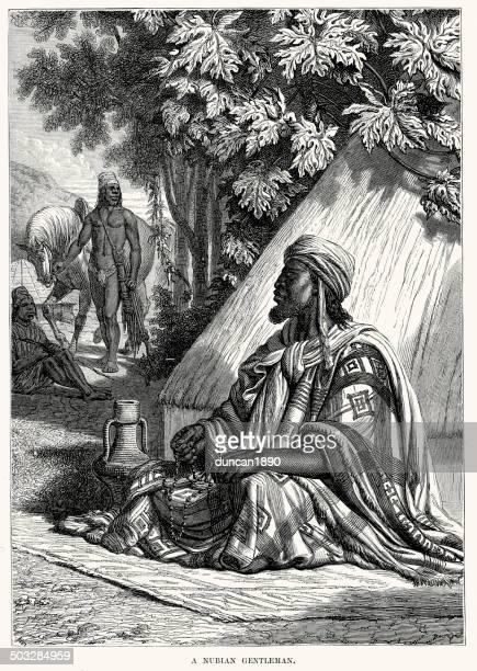 nubian gentleman - nubia stock illustrations, clip art, cartoons, & icons