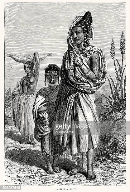 nubian lady - nubia stock illustrations, clip art, cartoons, & icons