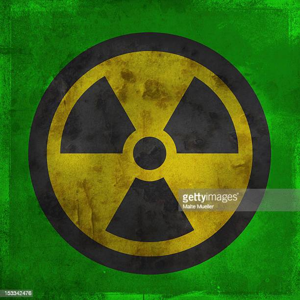 nuclear warning symbol - radioactive contamination stock illustrations