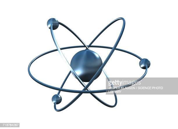 nucleus and atoms - nucleus stock illustrations, clip art, cartoons, & icons