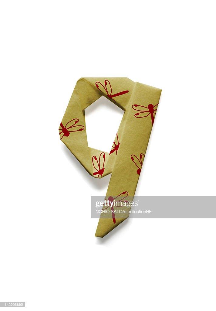 origami number 9