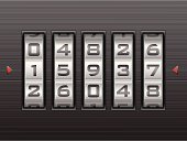 number combination lock background