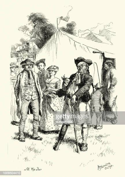 nursery rhyme oh dear! what can the matter be? - pirate criminal stock illustrations