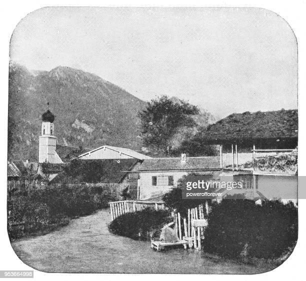 Oberammergau Church in Oberammergau, Germany - 19th Century