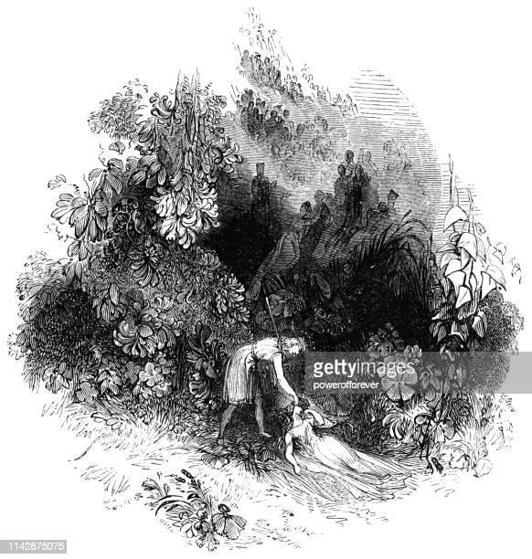Oberon Applies the Love Potion to Titania's Eyelids - Works of William Shakespeare