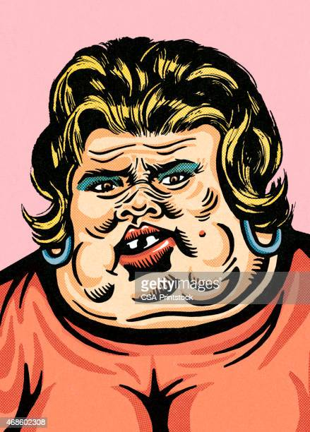 obese woman - ugliness stock illustrations, clip art, cartoons, & icons