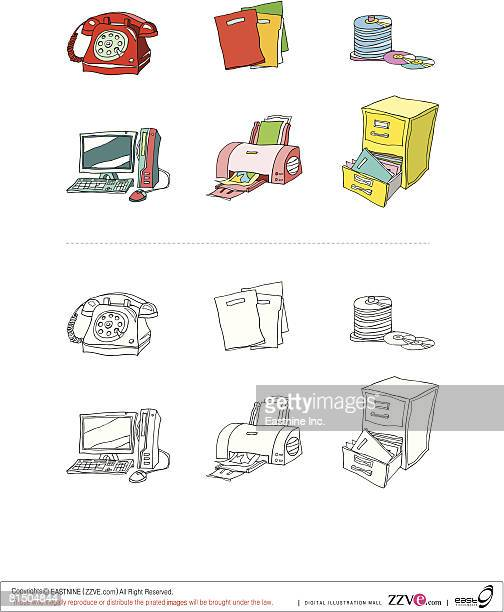 Objects displayed against white background