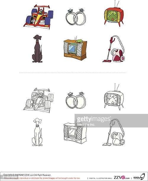 objects displayed against white background - television aerial stock illustrations, clip art, cartoons, & icons
