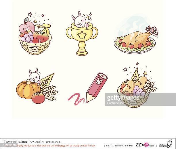 ilustraciones, imágenes clip art, dibujos animados e iconos de stock de objects displayed against white background - pollo asado