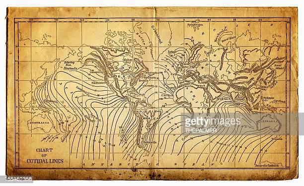 ocean currents map - tide stock illustrations, clip art, cartoons, & icons