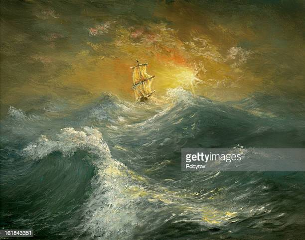 ocean - sail stock illustrations, clip art, cartoons, & icons