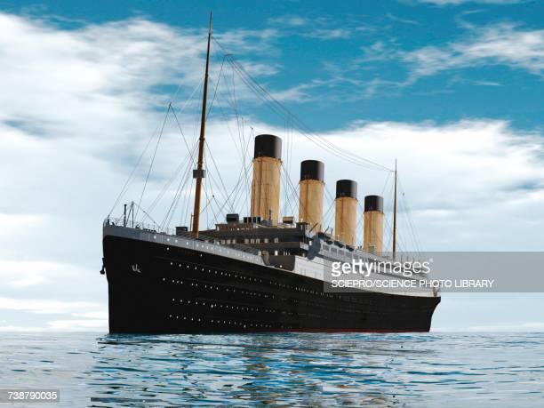 ocean liner, illustration - 遠洋定期船点のイラスト素材/クリップアート素材/マンガ素材/アイコン素材