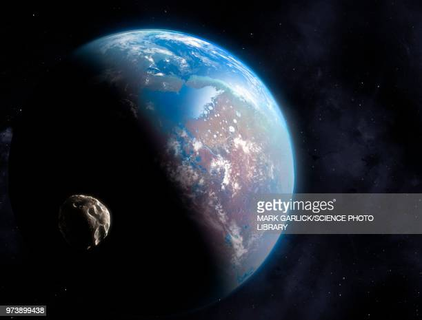ocean-covered planet, illustration - extrasolar planet stock illustrations
