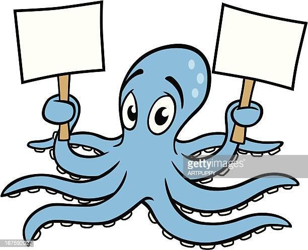 Octopus With Signs