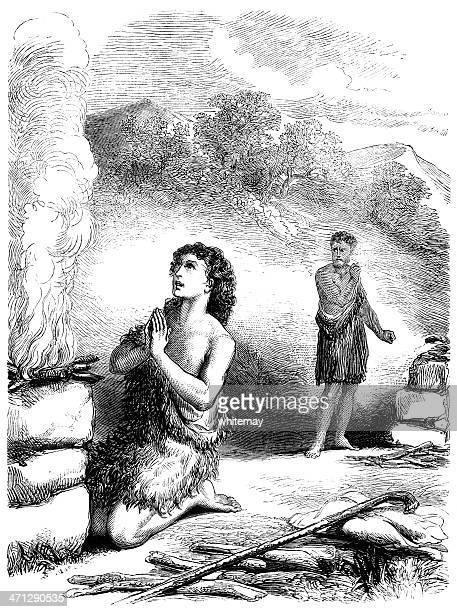 Offering of Cain and Abel (Victorian illustration)