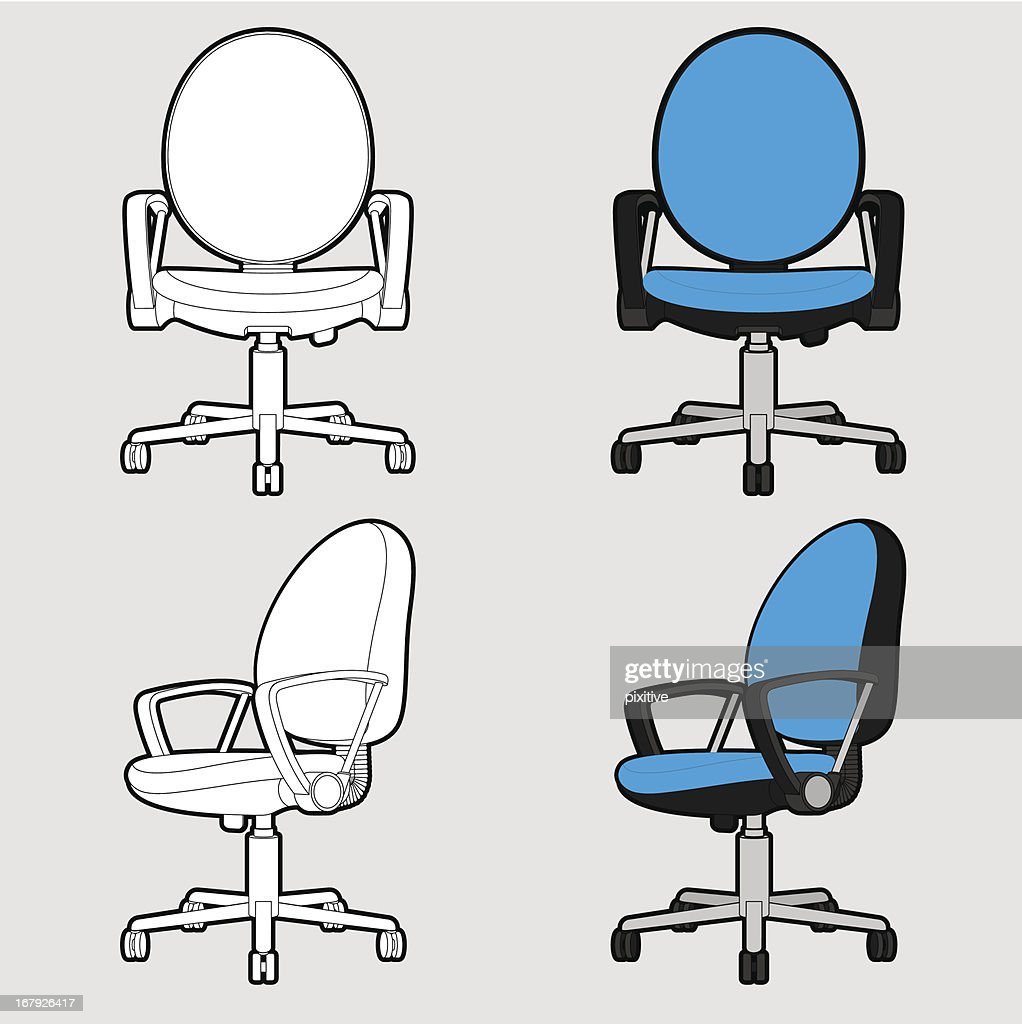 Office chair - Outline & Toon