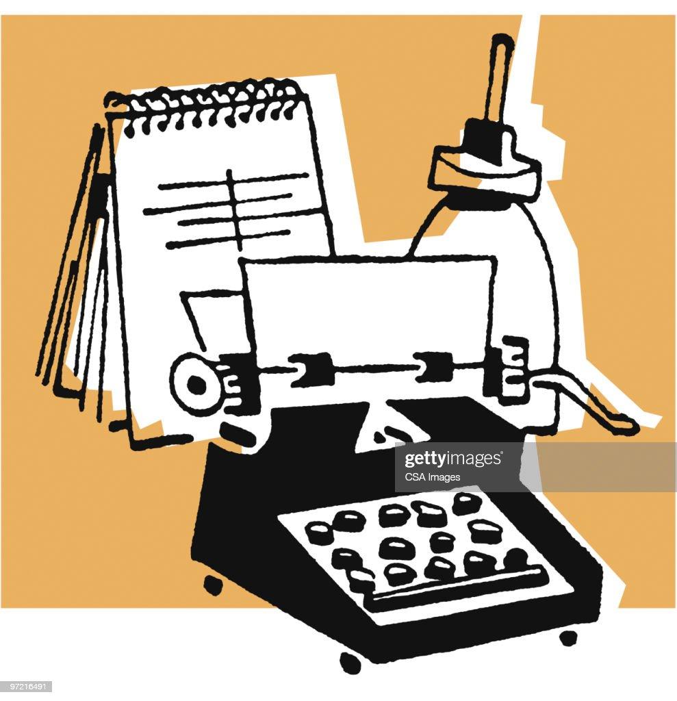 Office Desk : Stock Illustration