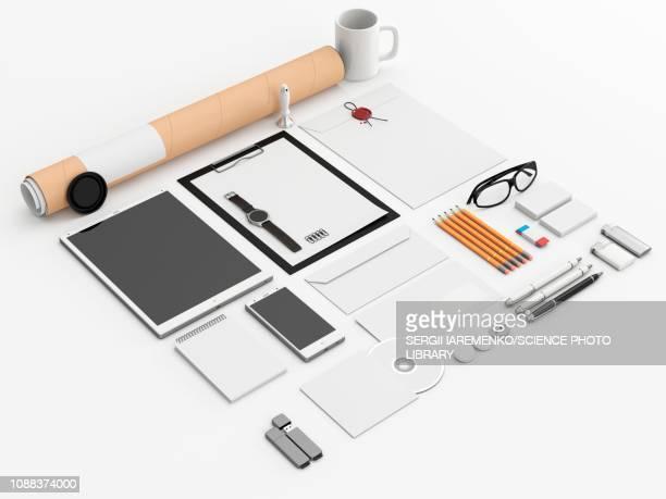 Office equipment, illustration