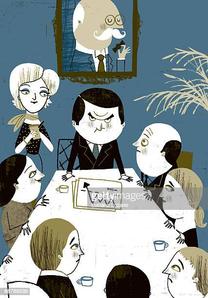 office - meeting stock illustrations