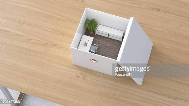 Office in a box, 3D Rendering