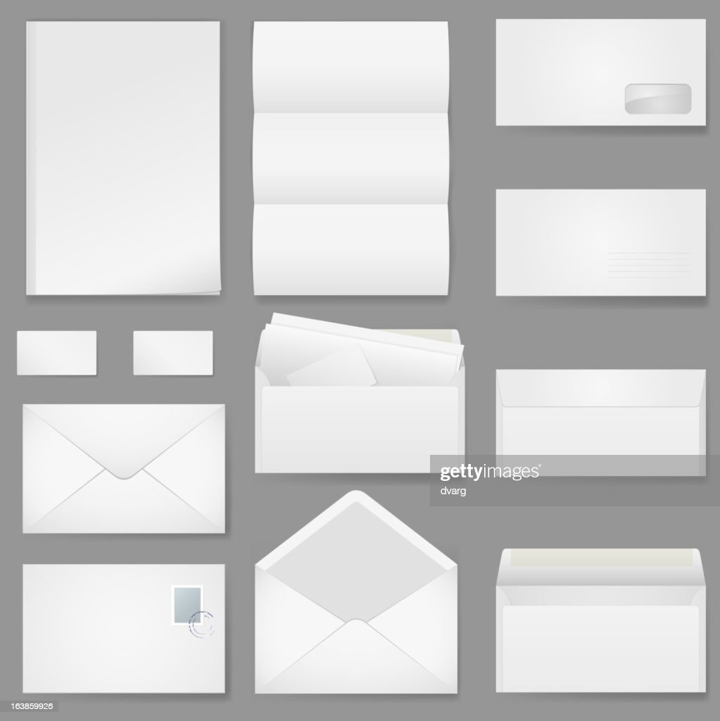 Office paper of different types.