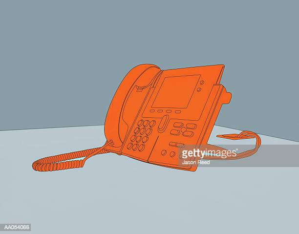 office phone - phone cord stock illustrations, clip art, cartoons, & icons