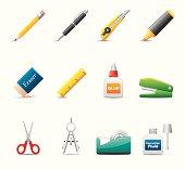 Office Supply Icon Set | Elegant Series
