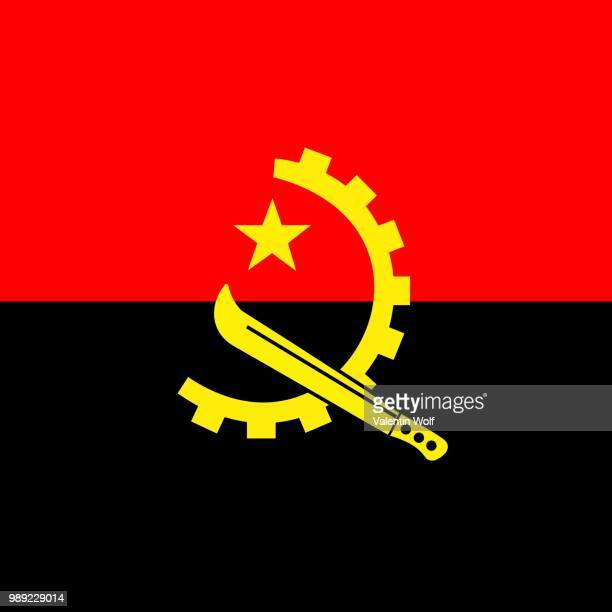 Official national flag of Angola