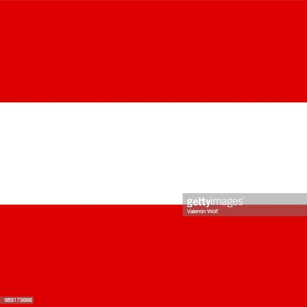official national flag of austria - central europe stock illustrations, clip art, cartoons, & icons