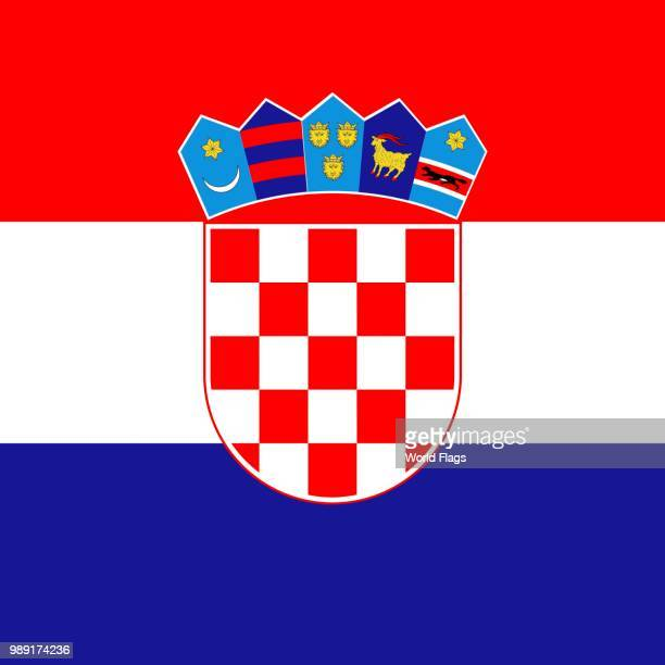 official national flag of croatia - croatian flag stock illustrations, clip art, cartoons, & icons