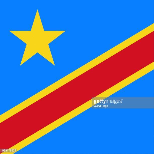 Official national flag of, Democratic Republic of the Congo, Congo